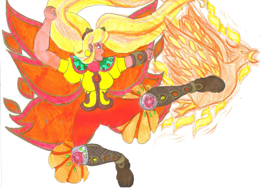EH2 - Haruka's Phoenix Kick by Clipperwhiz1
