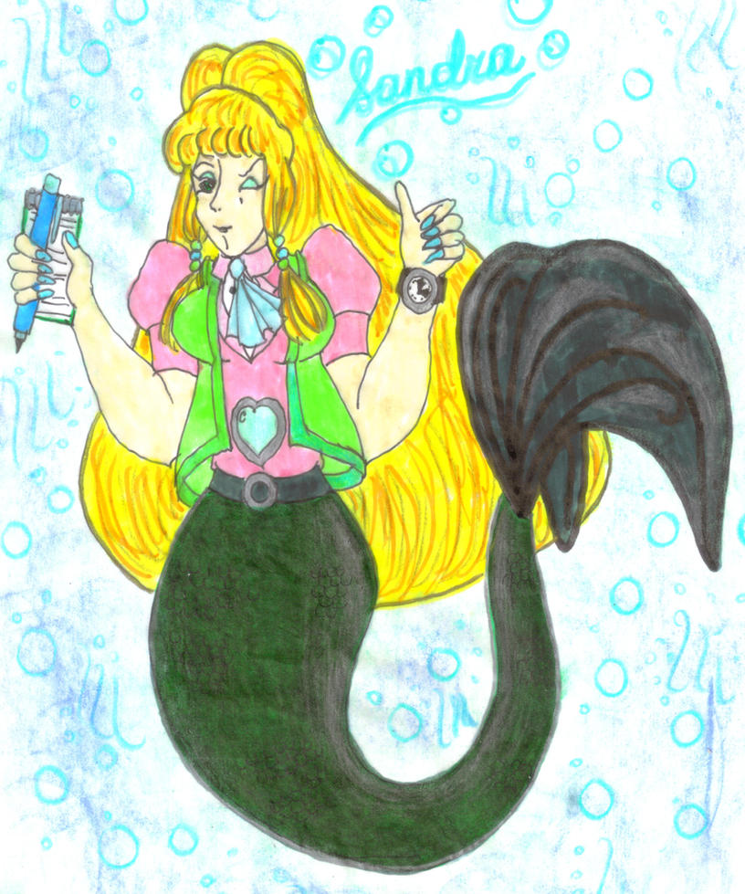 Sandra the Studying Mermaid 2.0 by Winter-Colorful