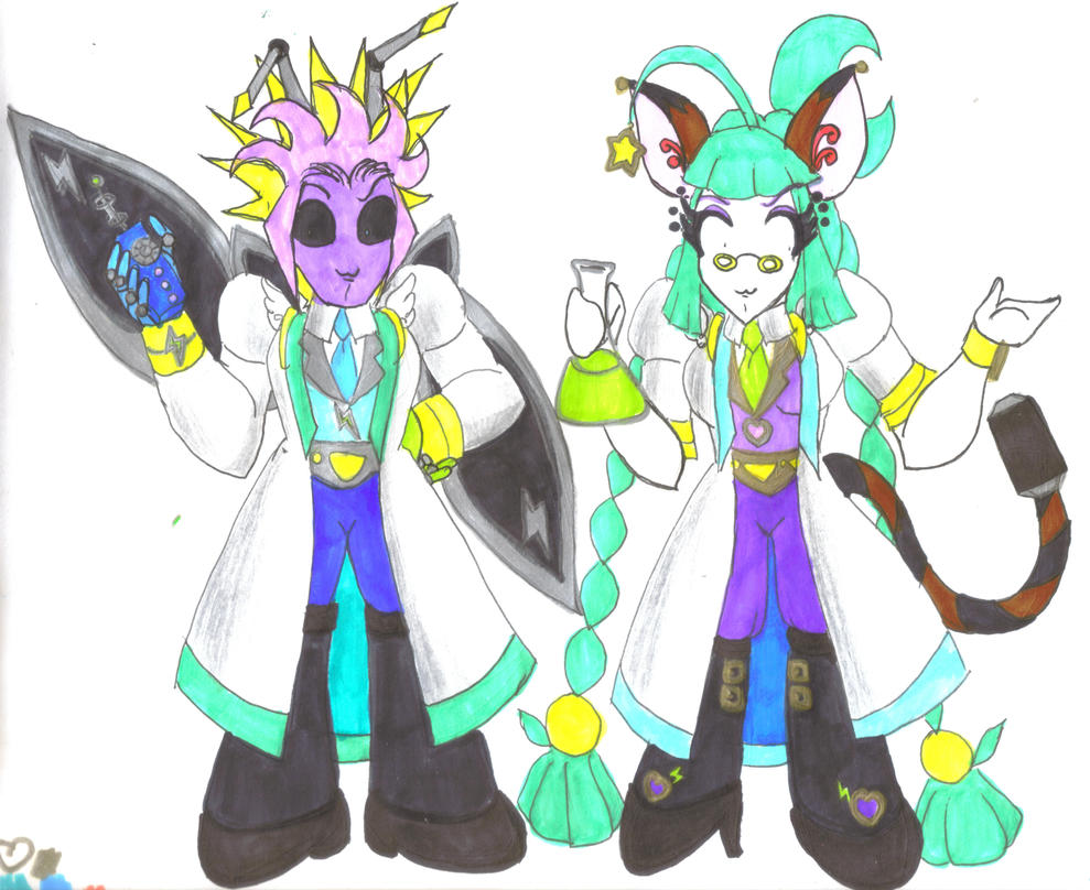 TAM - Sci-fi Scientists Wavelander and Lumimaria by Winter-Colorful