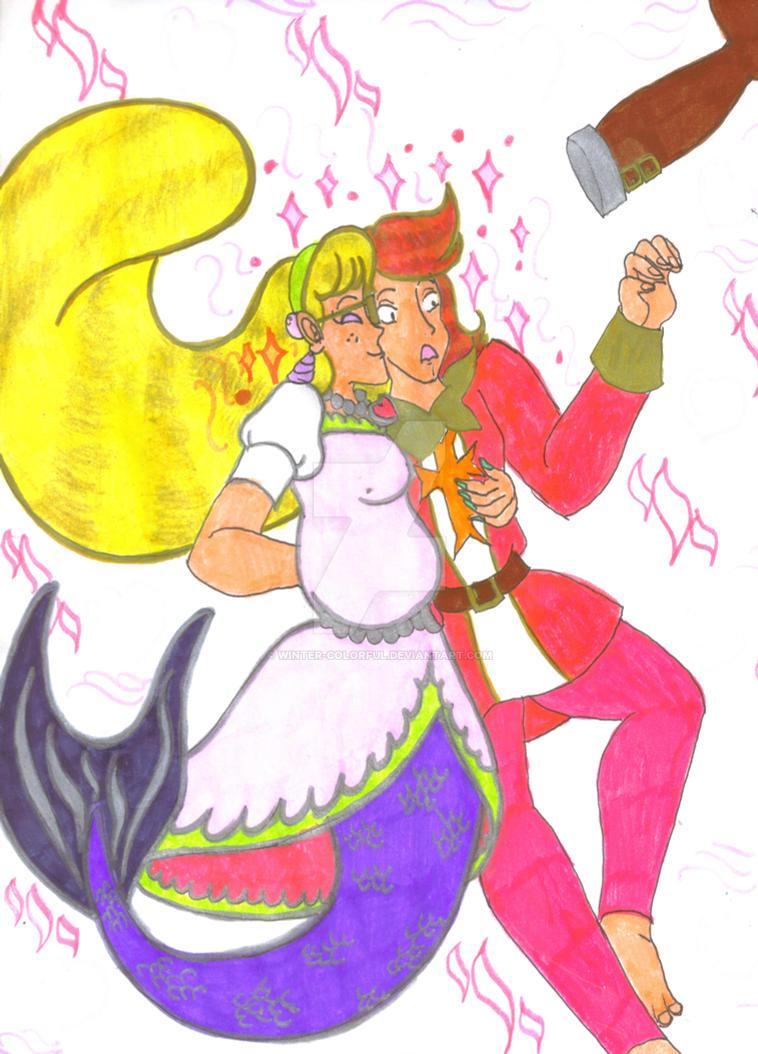 Mer-Mage Tsuki and Knight David by Winter-Colorful