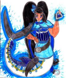 Blue Marlin Mermaid Ririka for DBCDude01