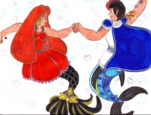Jetta and Benjamin Aqua-Dancing