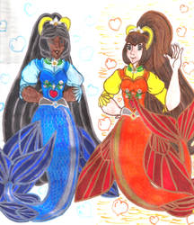 SAFS - Semi-Angelic Mermaids Gabriella and Seraphi