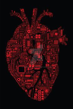 Techno Heart (Red/Black)