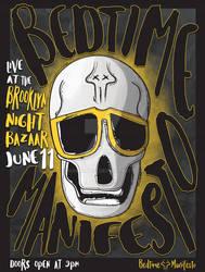 Skull Poster Grey