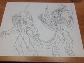 Fierce Kaiju Warriors by BlazerAjax220
