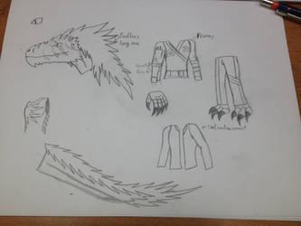 New Anthro Dino OC? by BlazerAjax220
