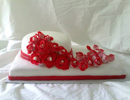 My First Wedding Cake by hollyann
