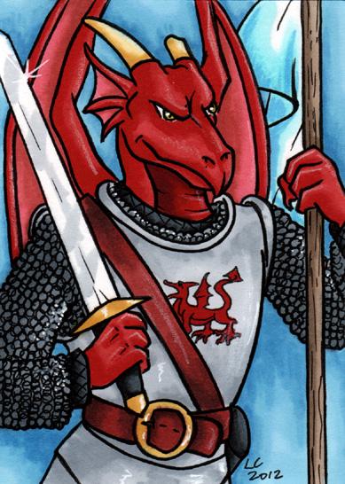 Dragon Knight ATC by hollyann