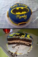 BatMan Birthday Cake by hollyann
