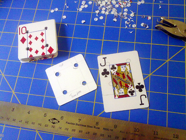 Playing Cards Turned Tablet Weaving Cards by hollyann