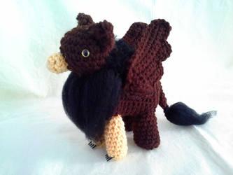 Dark Brown and Black Gryphon by hollyann