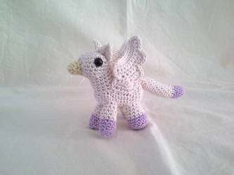Off White and Purple Pigmy Gryphon by hollyann