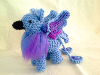Periwinkle and Grape Fizz Gryphon by hollyann