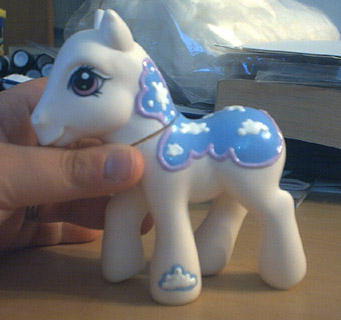 Cloud Custom Pony - WIP by hollyann