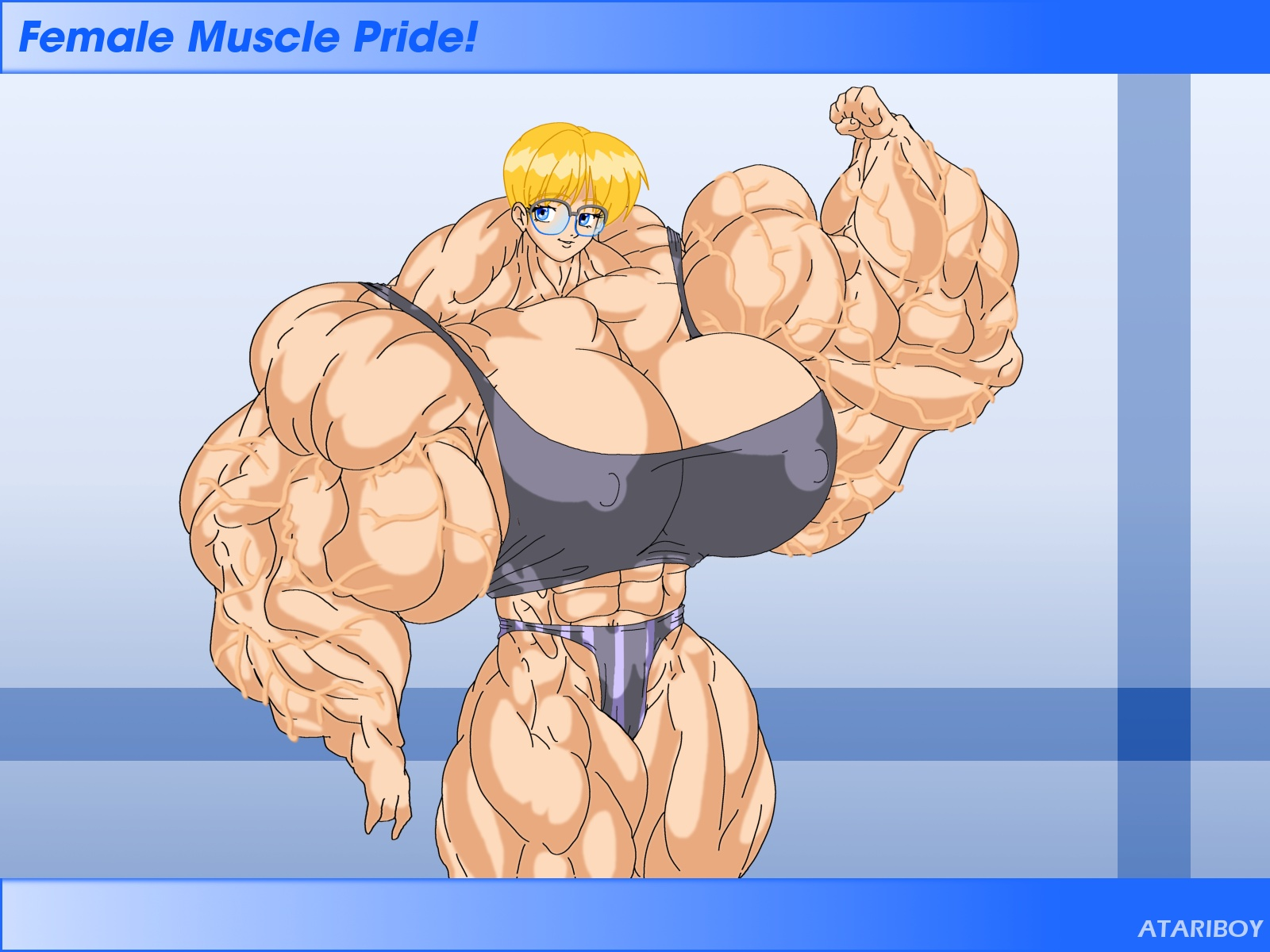 3d animated muscle females adult clips