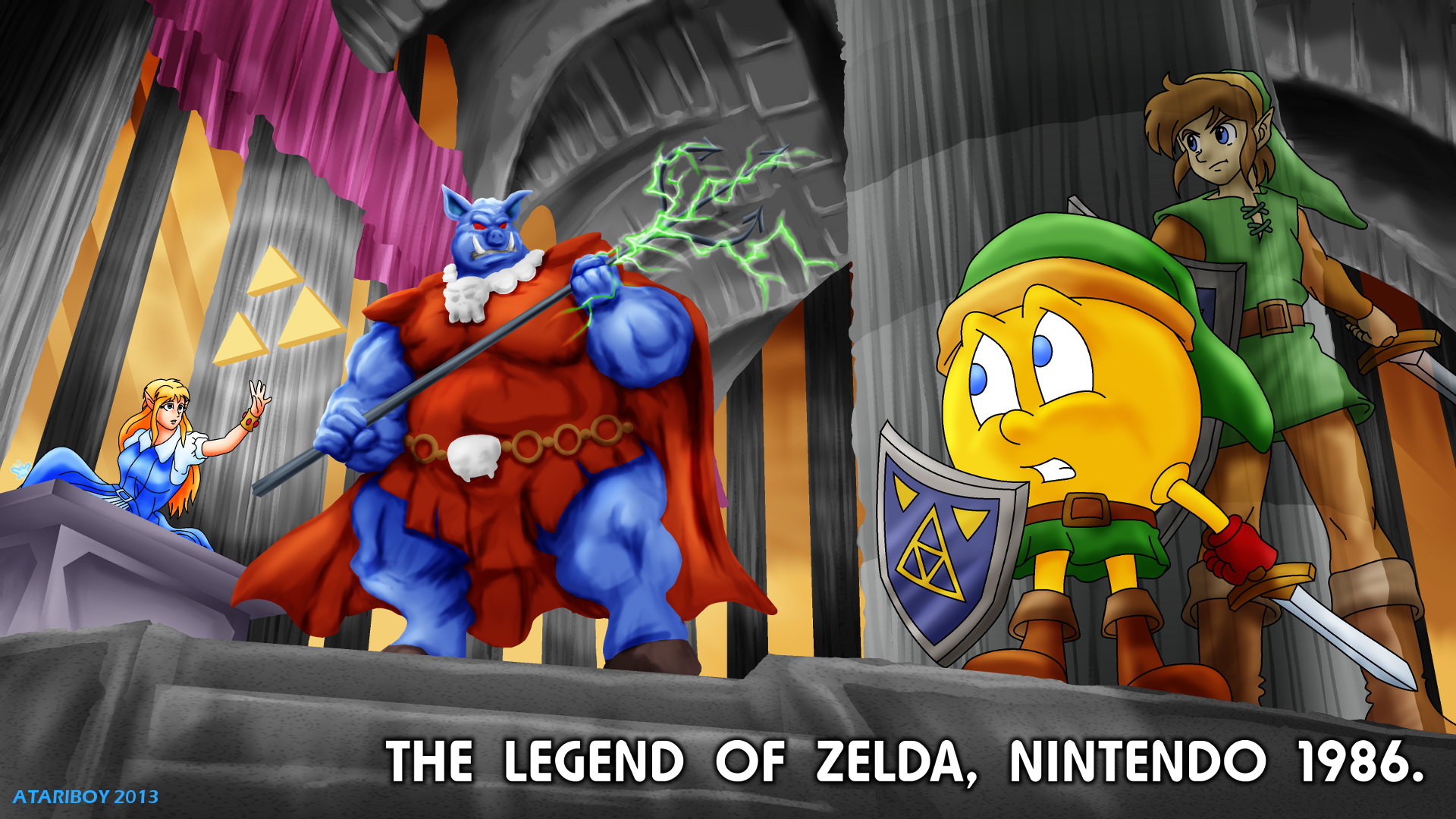 Pacman Fanfic The Legend Of Zelda 1986 By Atariboy2600 On