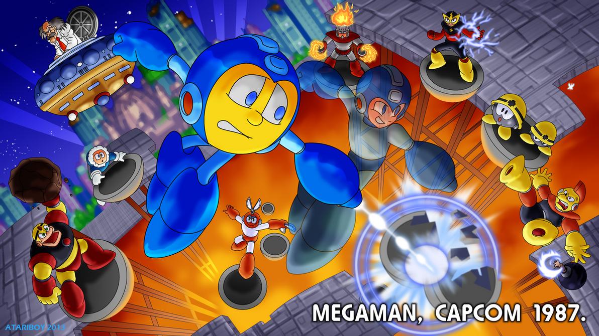 Pacman Fanfic - Mega Man 1987. by Atariboy2600