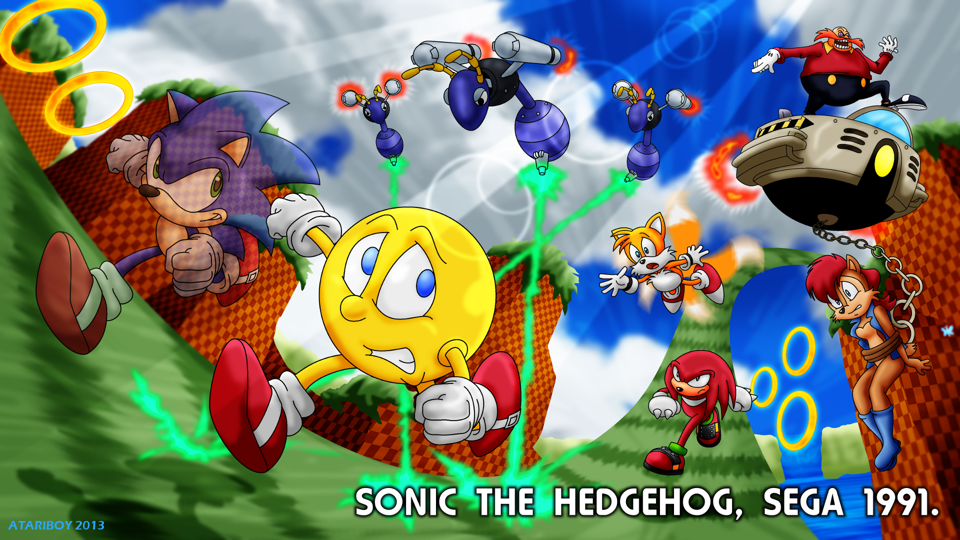 Pacman Fanfic Sonic The Hedgehog 1991 By Atariboy2600 On Deviantart