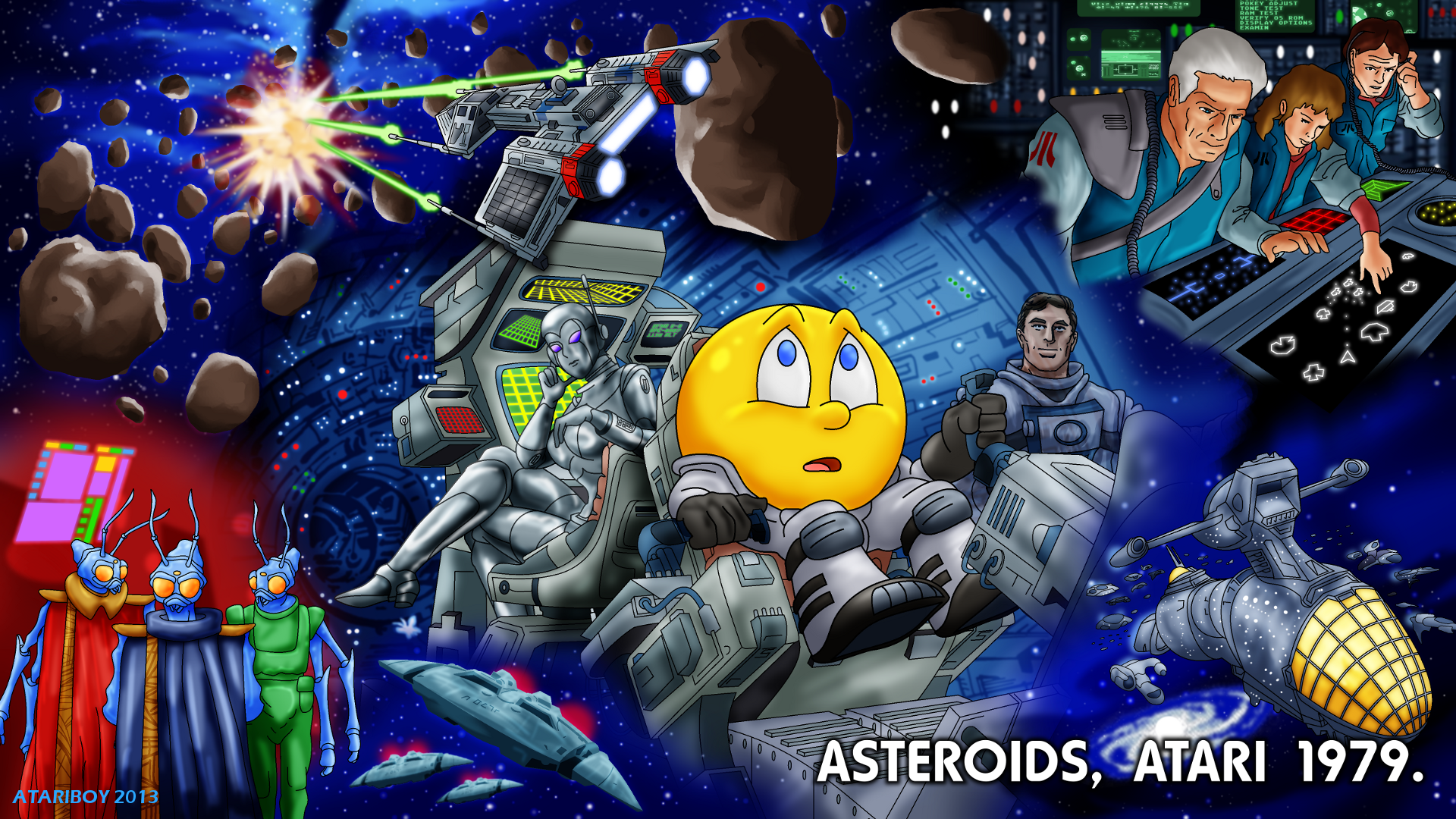 Pacman Fanfic - Asteroids 1979. by Atariboy2600