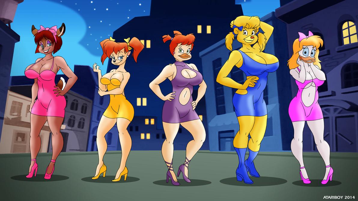 Disney Girls Night Out. by Atariboy2600