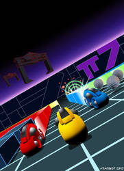 Light Grid Racing for Colecovision Box Art FINAL.