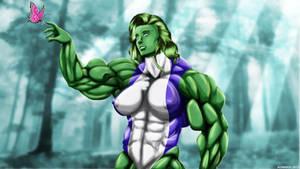 She-Hulk At Her Tenderness.
