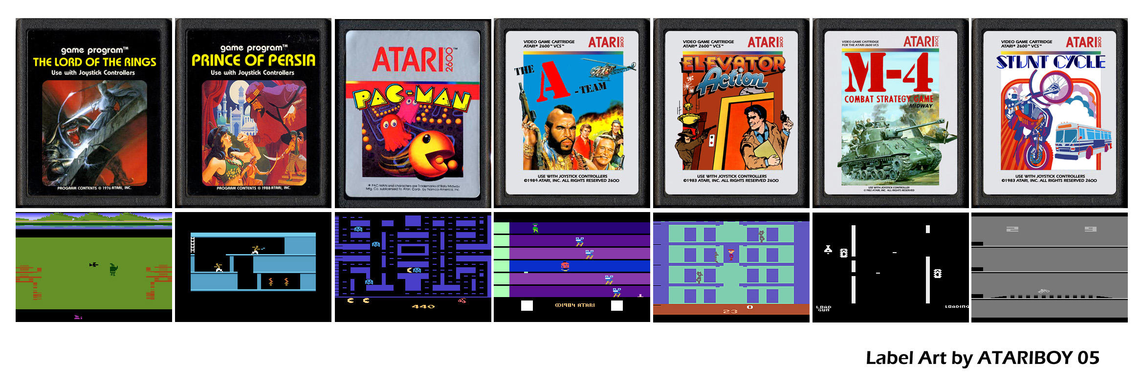 Atari Labels Art - 2600 by Atariboy2600