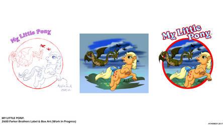 ATARI My Little Pony Label Art WIP.