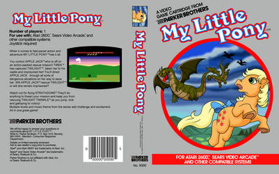 ATARI My Little Pony By Parker Brothers.