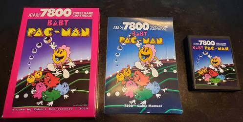 Atari 7800 Baby Pac-Man Box Art.
