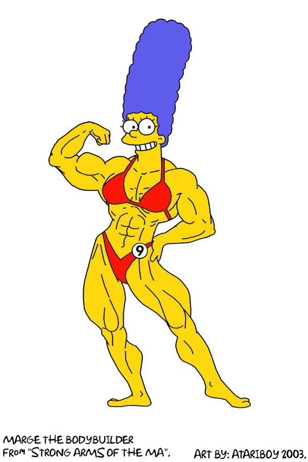 Marge All Pumped Up.