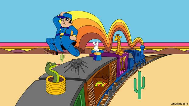 Gold Rush Box Art For Atari 2600.