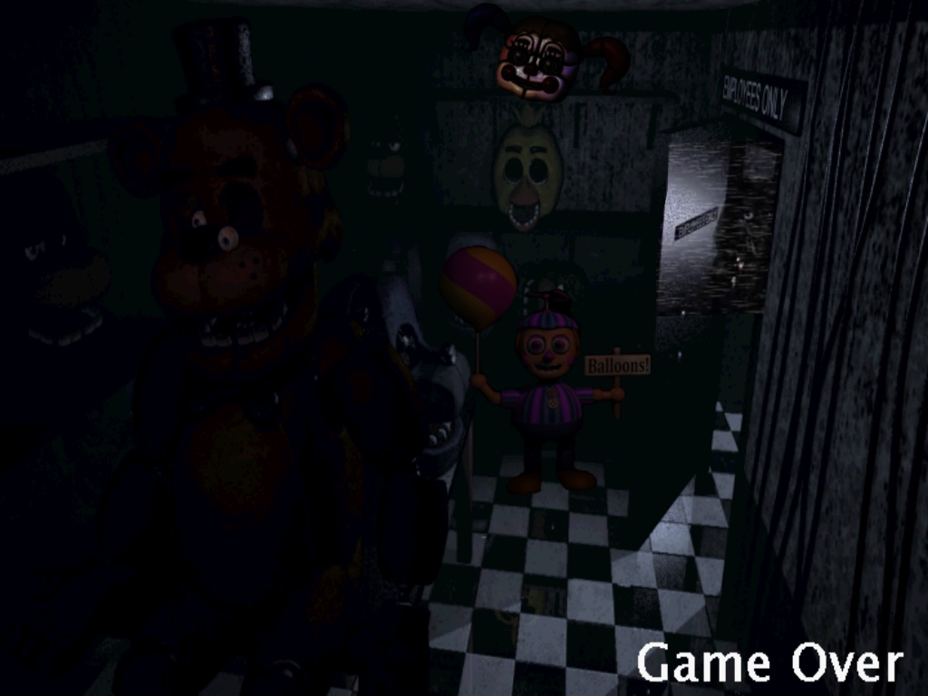 Fanmade game-over by Yandereanimatronic87