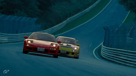 GT Sport - Initial D 5 Battle Stage FD vs NSX