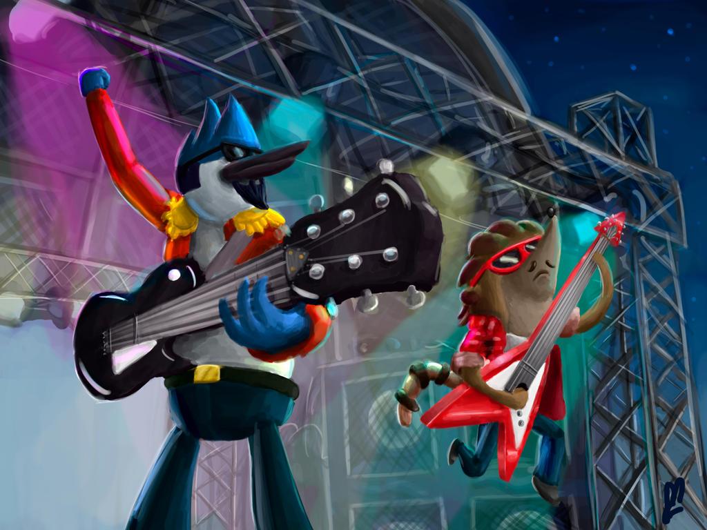 Regular Show Rockstars By Rodrigues404
