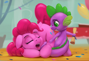 Pinkie and Spike by Rodrigues404