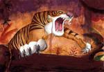 Shere Khan: Watercolour