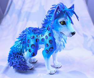 Blue Wolf Sculpture