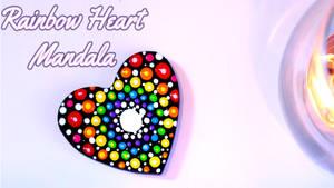 Rainbow Heart  Mandala Tutorial