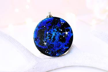 Blue Galaxy Circle Pendent