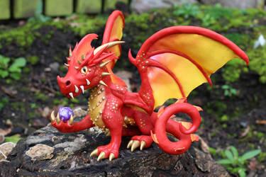 Fire Dragon Sculpture