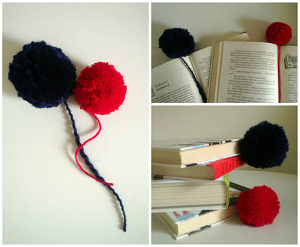 fluffy bookmarks!