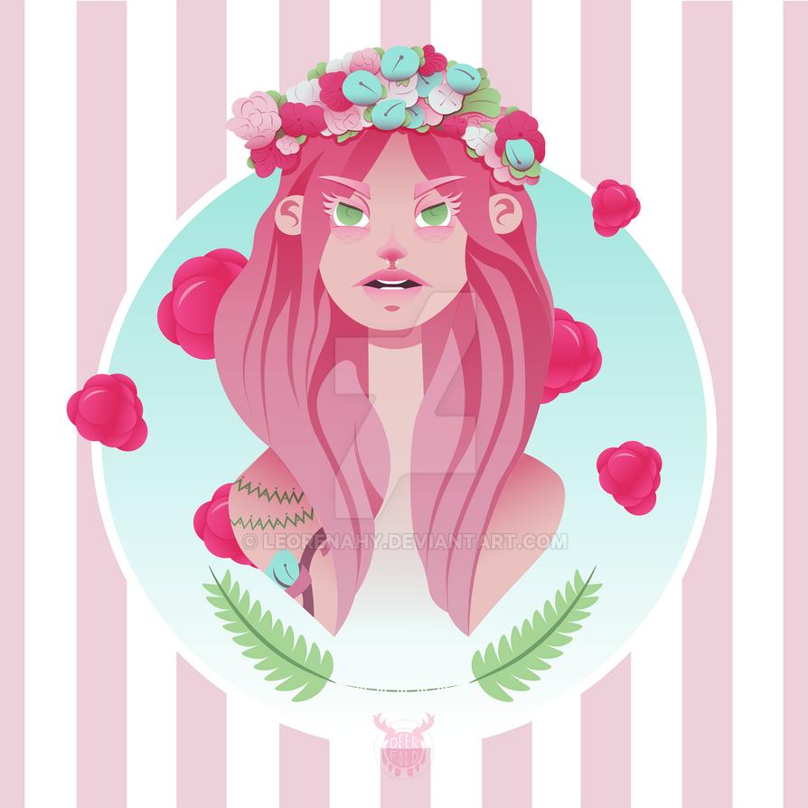 Ice Cream Girl - Strawberry by LeoRenahy