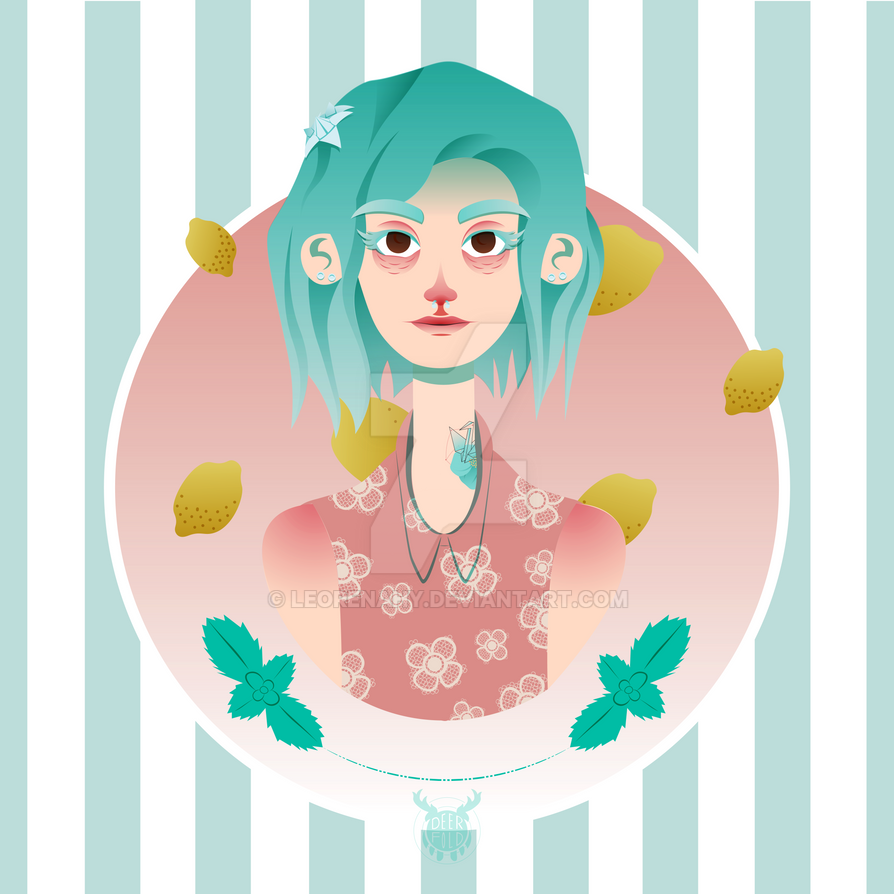 Ice Cream Girl - Mint and Lemon by LeoRenahy