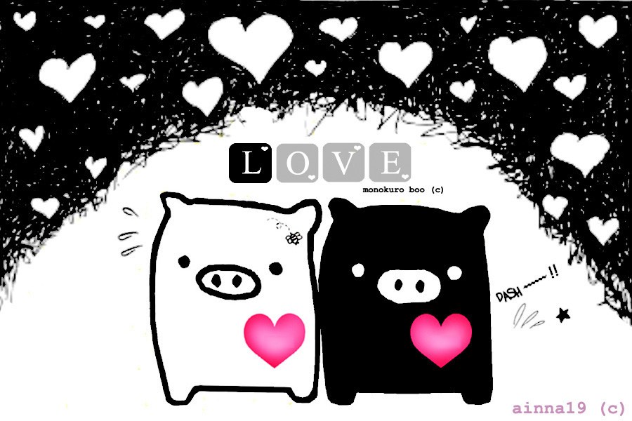 monokuro boo wallpaper. monokuro boo by ~ainna19 on