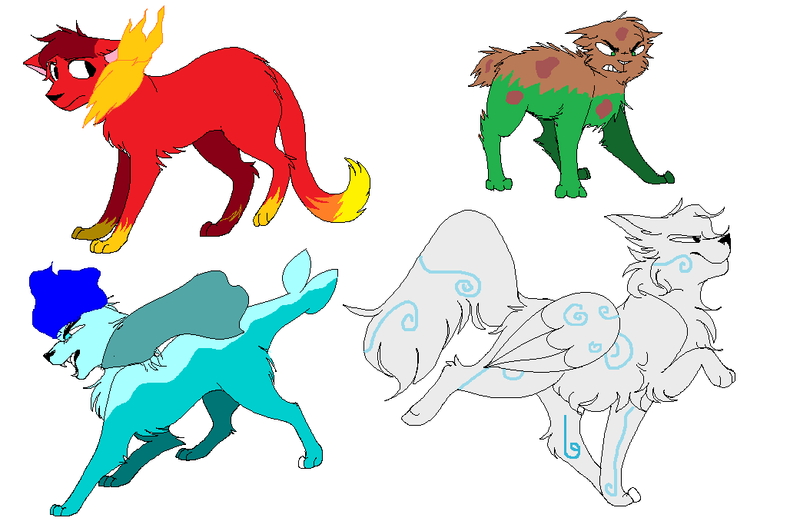 Elemental Cats Aboptables by Eevee-bases on DeviantArt