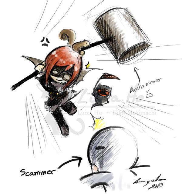 BANHAMMER IN ACTION by eikomakimachi