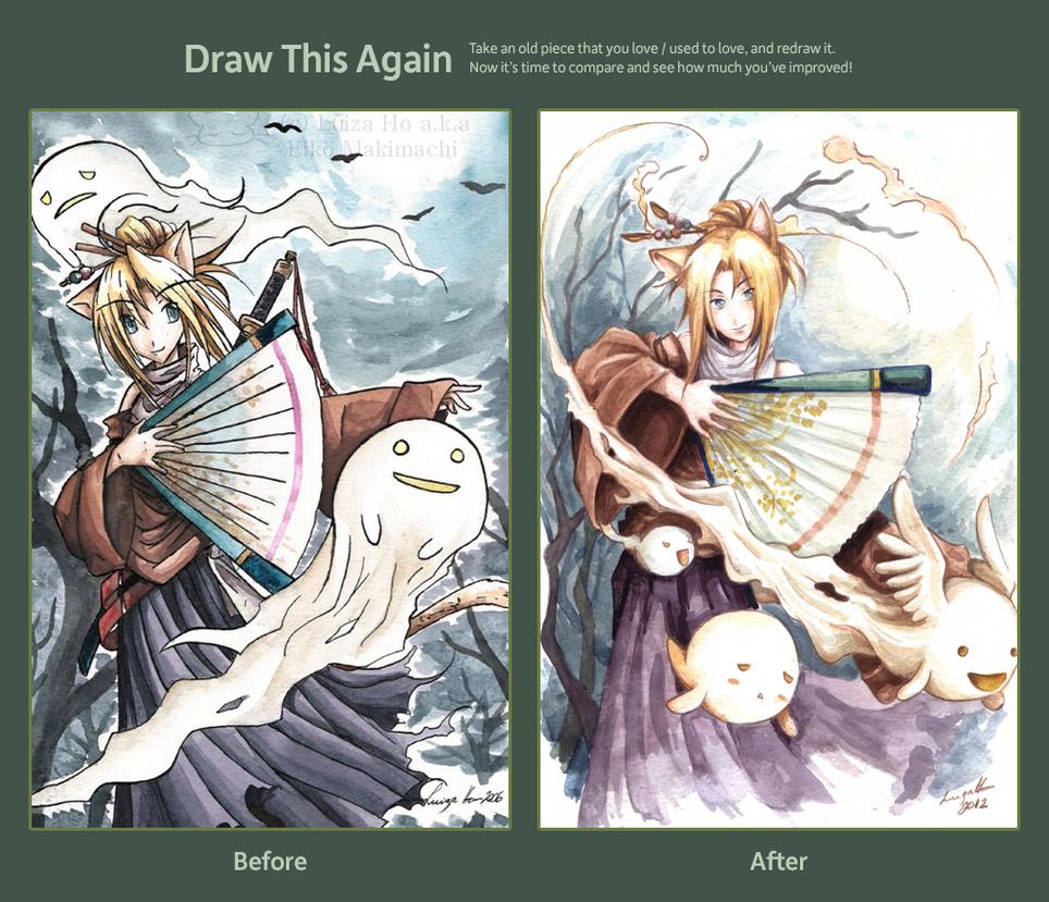 Draw this again: Trick or treat by eikomakimachi