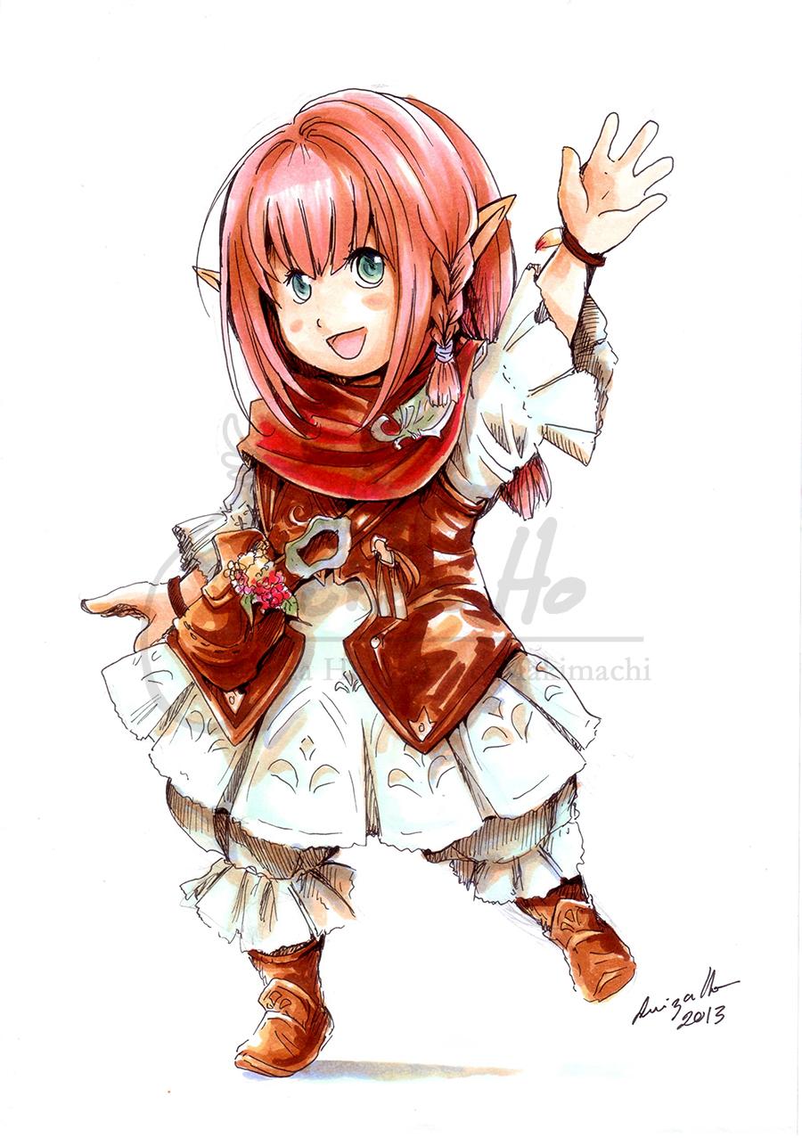 my lalafell character by eikomakimachi on deviantart